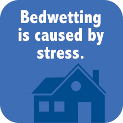 Bedwetting is cause by stress.